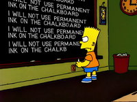 Lisa the Drama Queen Chalkboard Gag.png