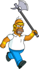 Tapped Out Homer Barbarian Chase Bully with an Axe1.png