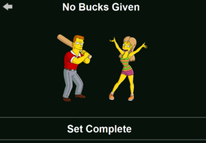 The Simpsons: Tapped Out characters/No Bucks Given