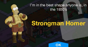 Homer Strongman Unlock Message.png