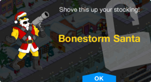 Tapped Out Bonestorm Santa unlock.png