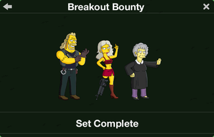 The Simpsons: Tapped Out characters/Breakout Bounty