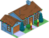 Tapped Out Christmas Blue House melted.png