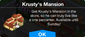 TO Clown in the Dumps Krusty's Mansion notice.png