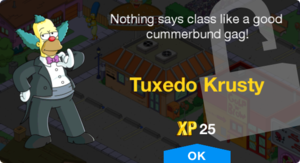 Tapped Out Tuxedo Krusty unlock.png