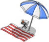 Tapped Out Beach Towel and Umbrella.png