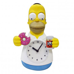 Homer Simpson Animated Beer And Donut Clock