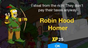 Robin Hood Homer Unlock.png