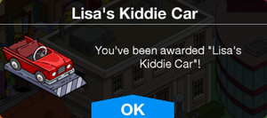 Tapped Out Lisas Kiddie Car Unlock.png