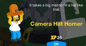 Camera Hat Homer Unlock.png