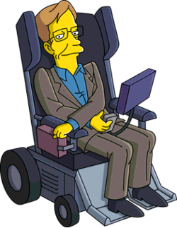 Image result for Stephen Hawking The simpsons boxing glove