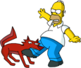 Tapped Out Space Coyote Bite Homer's Leg.png