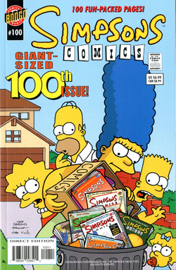 Simpsons Comics 100 (Front Cover).png